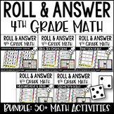 4th Grade Math Centers {Roll and Answer}