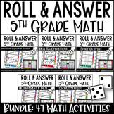5th Grade Math Activities - Roll and Answer with Google Sl