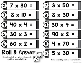 Math Centers for 3rd Grade | 3rd Grade Base Ten Math Centers