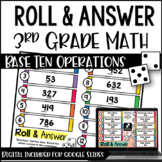 Roll and Answer Math Centers for 3rd Grade CCSS *Number an