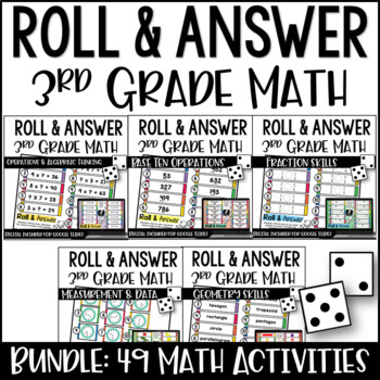 3rd Grade Math Centers {Roll and Answer}