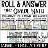 3rd Grade Math Centers | Roll and Answer Math Centers for