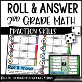 Roll and Answer Math Centers for 3rd Grade Common Core *Fr
