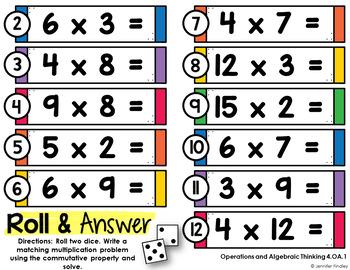Math Centers for 4th Grade Algebraic Thinking (Common Core Aligned)