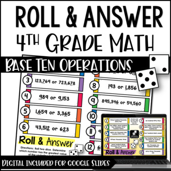 Math Centers for 4th Grade Base Ten (Common Core Aligned)