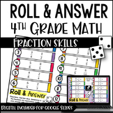 4th Grade Fraction Activities - Roll & Answer with Google