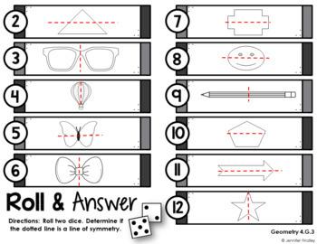 Math Centers for 4th Grade Geometry (Common Core Aligned)