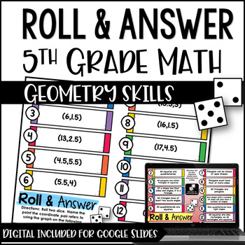Roll and Answer Math Centers for Common Core *Geometry*