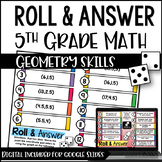 5th Grade Math Activities - Roll and Answer: Geometry with
