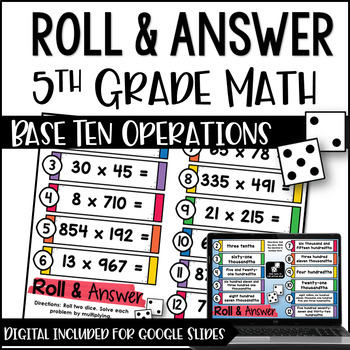 Decimals teaching resources lesson plans teachers pay teachers 5th grade math centers roll and answer numbers operations base fandeluxe Image collections