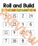 Roll and Build - Beginning of the Year Number Sense Review Center - Comparing