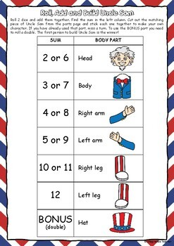 Roll and Build – Independence Day Uncle Sam