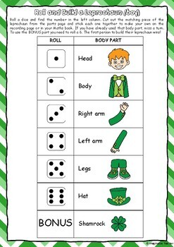 Roll and Build – St Patricks Day Leprechauns (boy and girl)