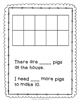 Roll and Build Ten Frame Math ~ common core
