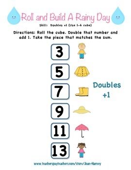 Roll and Build a Rainy Day: 16 Games for Number Rec. and Addition Strategies