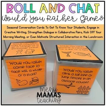 Roll and Chat: Would You Rather Conversation Cards