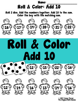 Roll and Color: Add 10