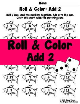 Roll and Color: Add 2
