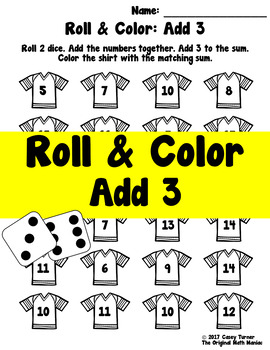 Roll and Color: Add 3