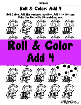 Roll and Color: Add 4