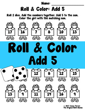 Roll and Color: Add 5