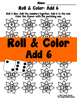 Roll and Color: Add 6