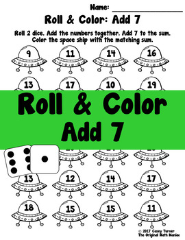 Roll and Color: Add 7 FREEBIE