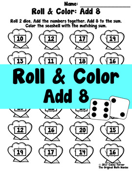 Roll and Color: Add 8