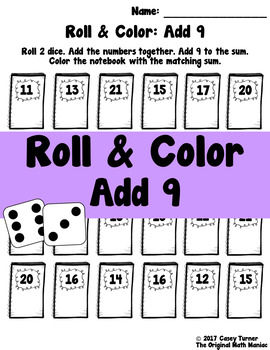 Roll and Color: Add 9