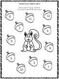 Roll and Color Addition Game -acorn Freebie