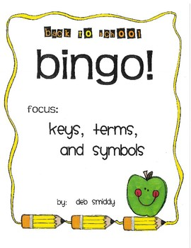 Roll and Color BACK TO SCHOOL BINGO:  Keys, terms, and Symbols