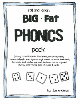 Roll and Color:  BIG FAT Phonics Pack