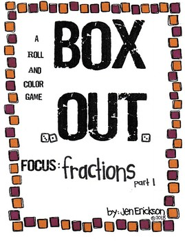 Roll and Color BOX OUT: Fractions (part 1)