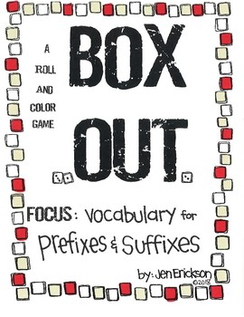 Roll and Color BOX OUT:  Prefixes and Suffixes
