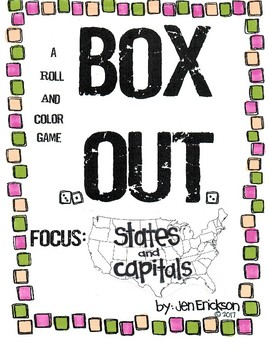 Roll and Color BOX OUT:  States and Capitals