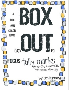Roll and Color BOX OUT:  Tally Marks