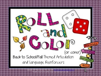 Roll and Color - BTS/Fall Themed Articulation and Language