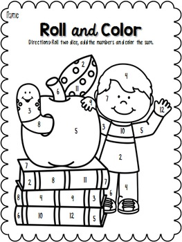 Roll and Color: Back-to-School