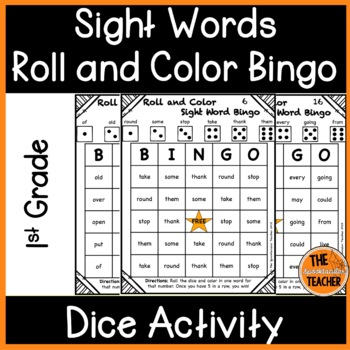 Roll and Color Bingo: First Grade Sight Words