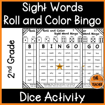 Roll and Color Bingo: Second Grade Sight Words