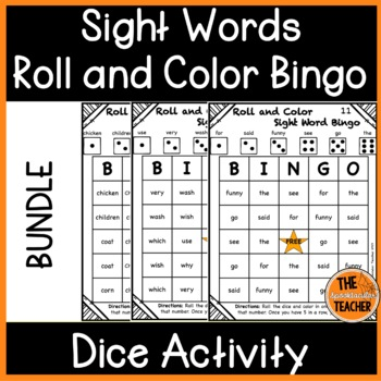Roll and Color Bingo: Sight Words