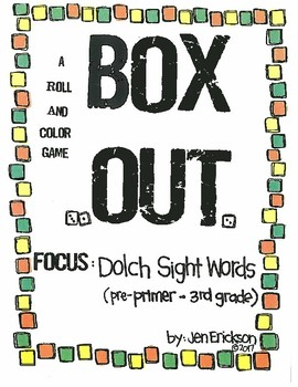 Roll and Color:  Box Out! (Dolch Sight Words)
