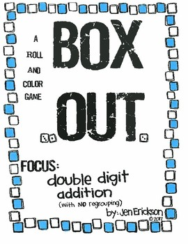 Roll and Color: Box Out! (Double Digit Addition with NO re