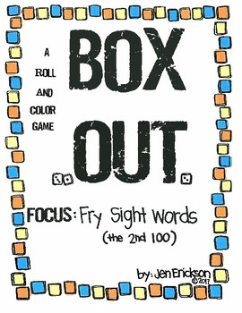 Roll and Color:  Box Out!  (Fry Sight Words, 2nd 100)