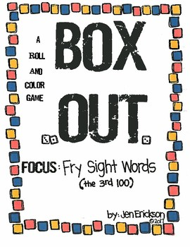 Roll and Color:  Box Out! (Fry Sight Words, 3rd 100)