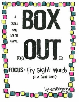 Roll and Color:  Box Out!  (Fry Sight Words, first 100)