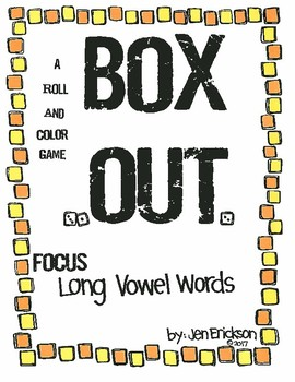 Roll and Color:  Box Out!  (Long Vowel Words)
