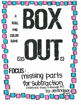 Roll and Color: Box Out! (Missing Parts for Subtraction)