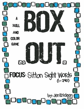 Roll and Color:  Box Out! (Sitton Sight Words)