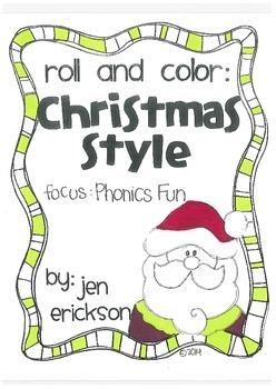 Roll and Color CHRISTMAS STYLE: Phonics Fun
